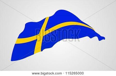 Flag Of Sweden.vector Illustration.