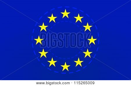 European Union Flag.vector Illustration.