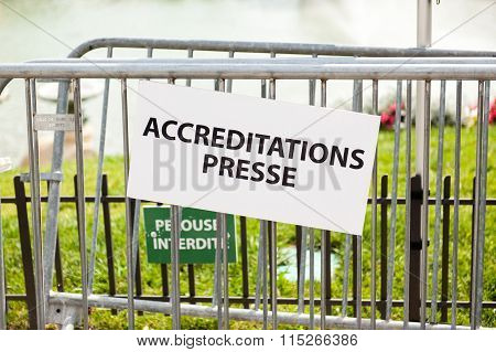 Press Accreditation - Accreditation Presse In France