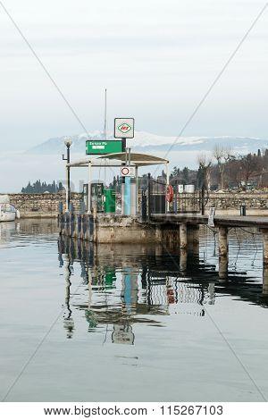 Petrol Station For Boats On Lake Garda.