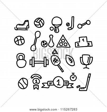 Sport Doodles Icon.vector Illustration.