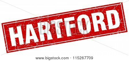 Hartford red square grunge vintage isolated stamp