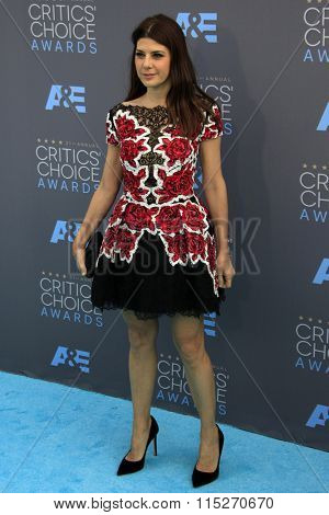 LOS ANGELES - JAN 17:  Marisa Tomei at the 21st Annual Critics Choice Awards at the Barker Hanger on January 17, 2016 in Santa Monica, CA