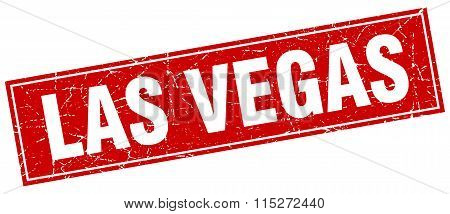 Las Vegas red square grunge vintage isolated stamp