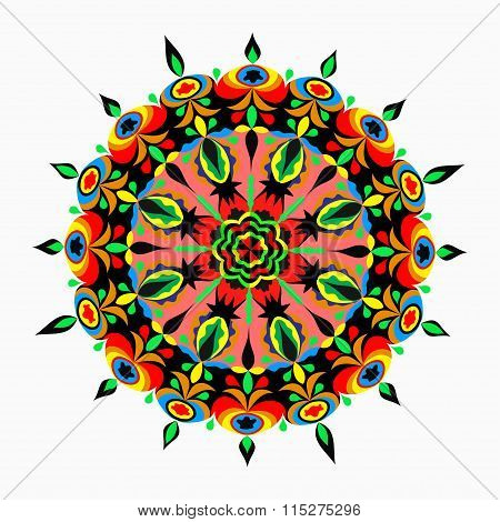 Mandalas Collection. Round Ornament Pattern