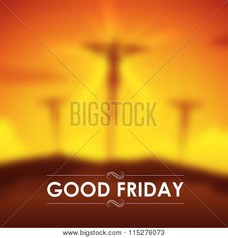 illustration of Jesus Christ crucifixion on Good Friday