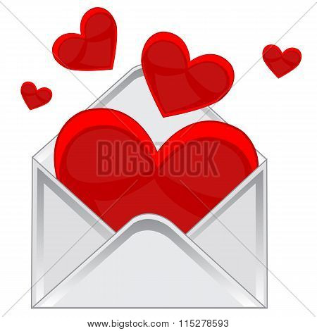 Heart in envelope
