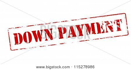Rubber stamp with text down payment inside vector illustration