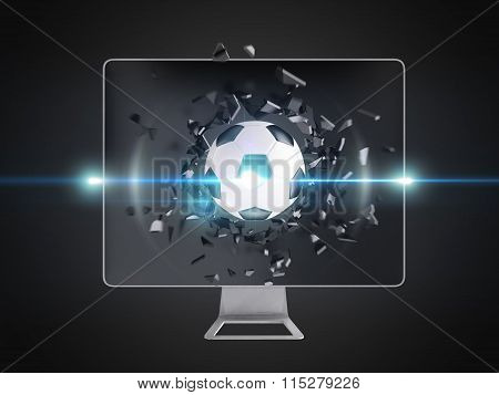 soccerball Destroy Computer Screen.