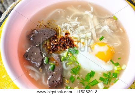 Vietnamese noodle with soup