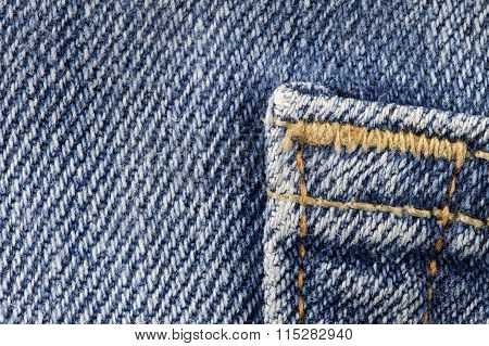 Close Up Onto Denim
