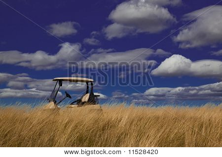 Golf Cart In The Tall Grass