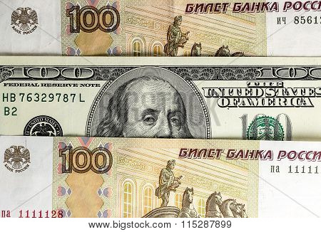 Image Of Russian And American Money