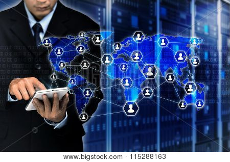 Internet For Business Concept