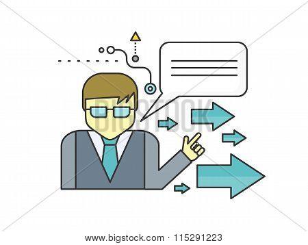 Mentor Concept Icon