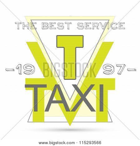 Retro style template taxi poster vector