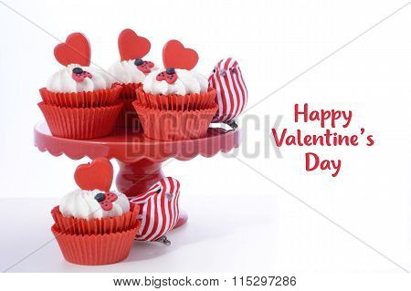 Red And White Valentine Cupcakes