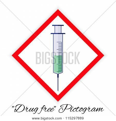 Drug Free Pictogram, Colors