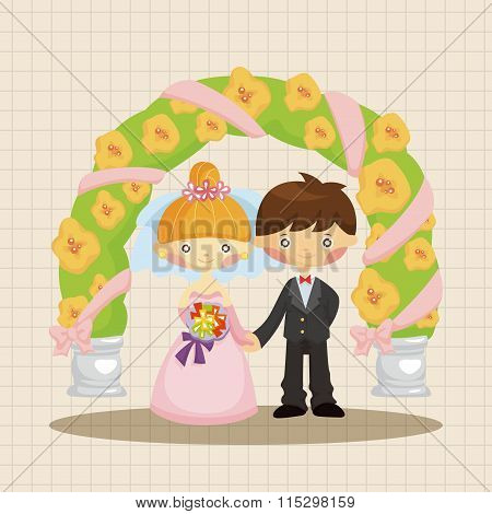 Wedding Couple Theme Elements