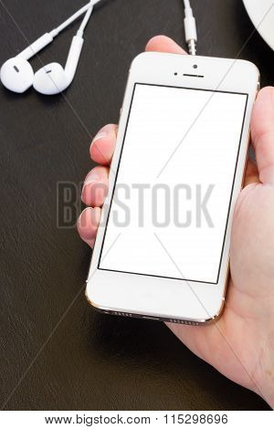 mock up with modern smartphone
