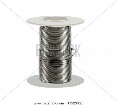 soldering wire on a spool