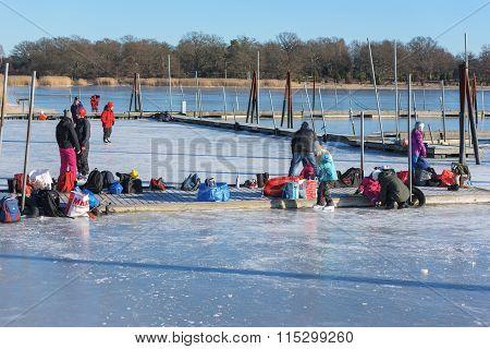 Winter Activity In Marina