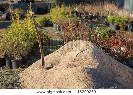 Shovel In Gravel