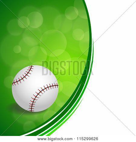 Background abstract green baseball ball circle ribbon frame illustration vector