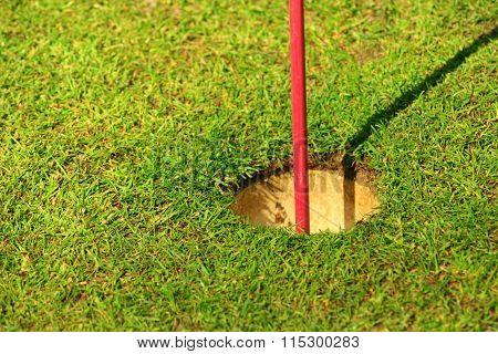 Golf Hole Flag Detail
