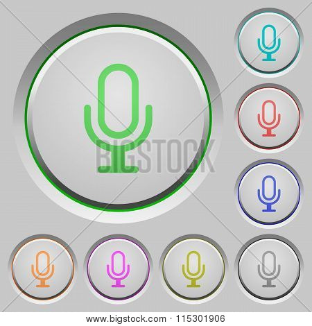 Microphone Push Buttons