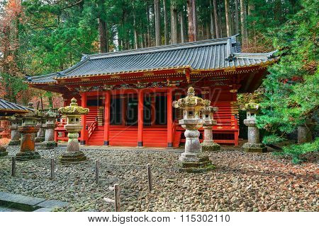 Small Shrine in the Taiyuinbyo - the Mausoleum of Shogun Tokugawa Iemitsu in Nikko, Japan
