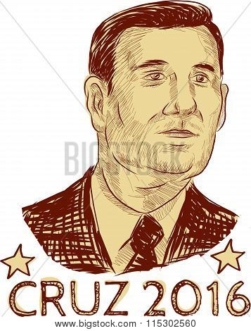 Ted Cruz President 2016 Drawing