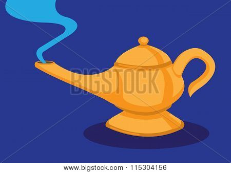 Magic Lamp Vector Illusttaion
