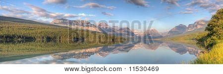 Lake Sherburne Reflection Panorama