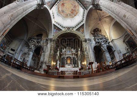 Santa Maria Del Popolo Church Interior, Rome