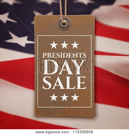 Presidents Day sale background.