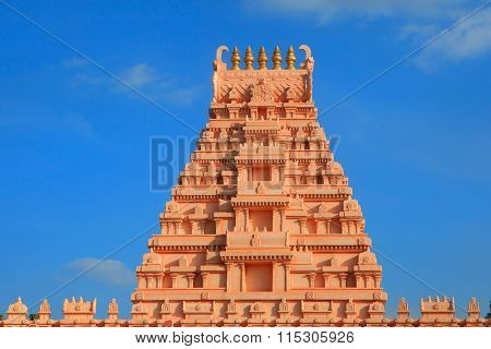Beautiful hindu temple architecture in India