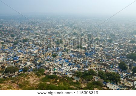 View Of Jodhpur, The Blue City From Mehrangarh Fort
