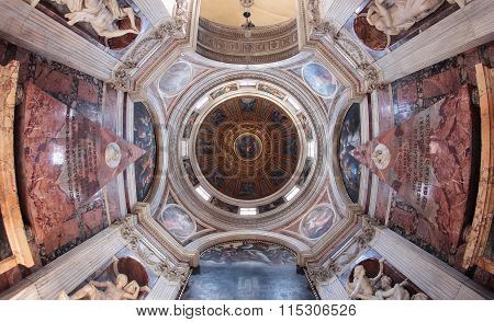 Santa Maria Del Popolo Church Interior, Rome