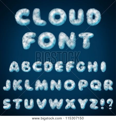 Cloud Alphabet For Design