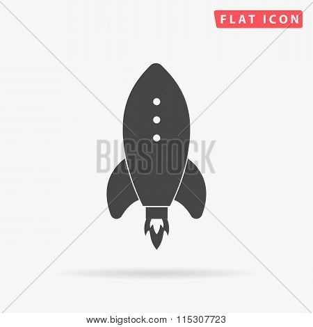 rocket simple flat icon