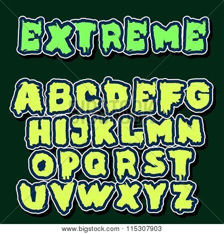 English Alphabet In Graffiti Style