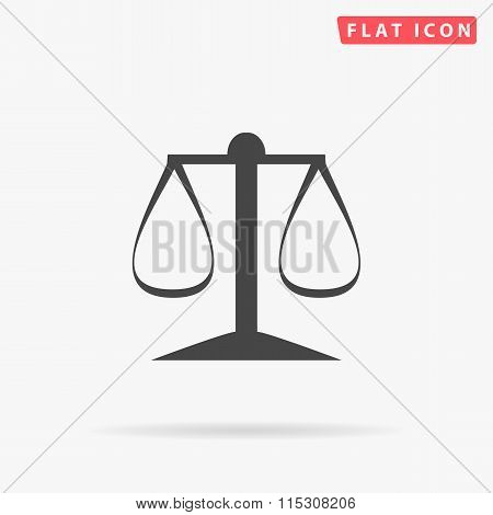 justice scale simple flat icon