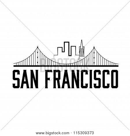 San Francisco Skyline Illustration Vector Illustration Design Template