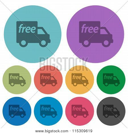 Color Free Shipping Flat Icons