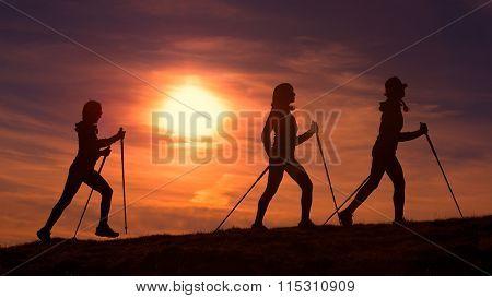 Women Do Nordic Walking