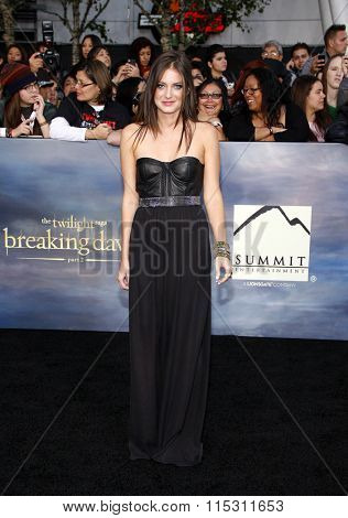 Justine Wachsberger at the Los Angeles Premiere of
