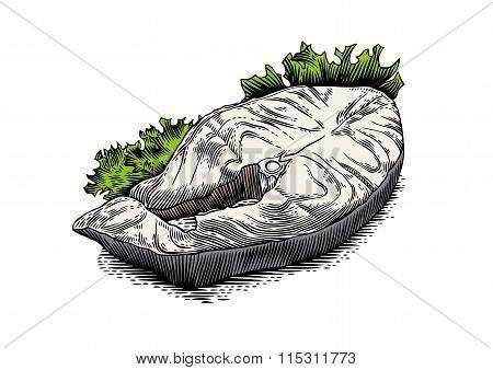 Fried Steak Of Cod