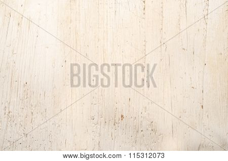 Old Rustic White Wooden Table Surface