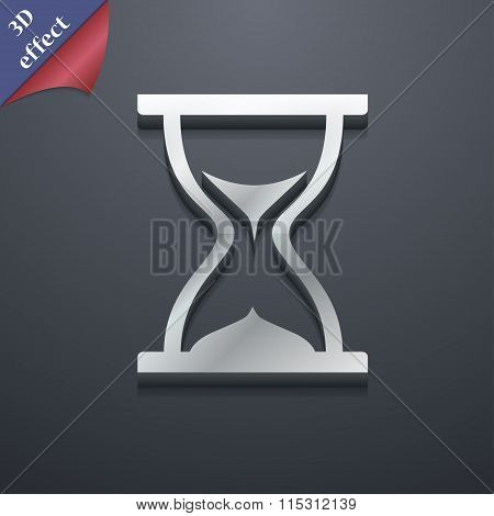 Hourglass Icon Symbol. 3D Style. Trendy, Modern Design With Space For Your Text